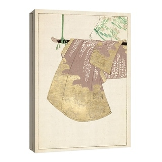 """PTM Images 9-126685  PTM Canvas Collection 8"""" x 10"""" - """"Gold Kimono III"""" Giclee Japanese Art Print on Canvas"""
