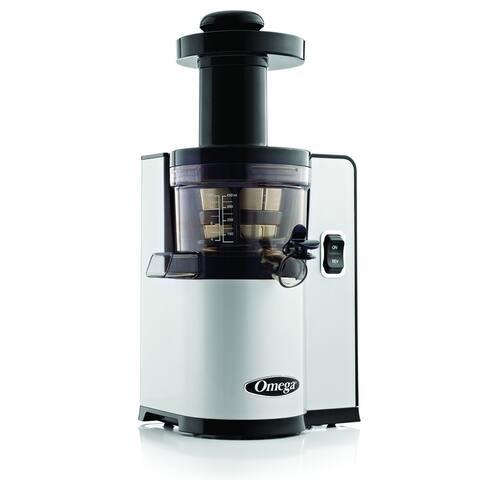 Omega Juicers VSJ843QS Low Speed Vertical Masticating Juicer, 43 RPM, Silver & Black
