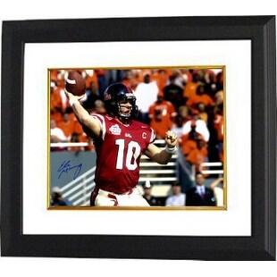 purchase cheap be2af 3bf12 Eli Manning signed Ole Miss Rebels 16x20 Photo Custom Framed 2003 Cotton  Bowlred jersey Steiner Hol