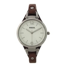 Fossil Es3060p Georgia Brown Leather Watch Watch For Women