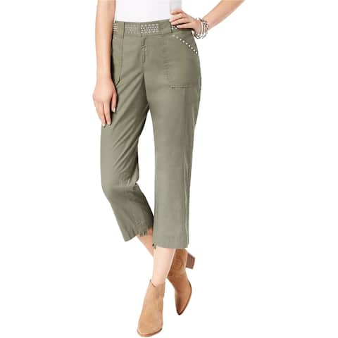 I-N-C Womens Studded Casual Cargo Pants
