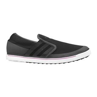Adidas Women's Adicross SL Black/Dark Shale/Flash Pink Golf Shoes Q46737