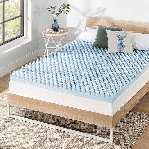 4 Inch Gel Egg Crate Memory Foam Bed Topper - Crown Comfort