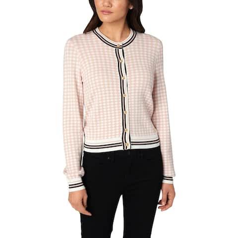 Juicy Couture Black Label Womens Cardigan Sweater Diamond Jacquard