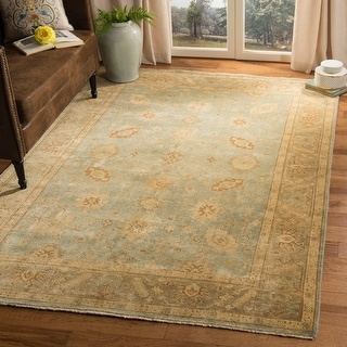 Safavieh Couture Hand-knotted Oushak Elfete Traditional Oriental Wool Rug with Fringe