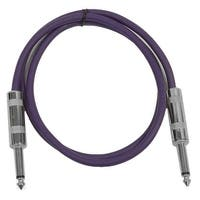 "SEISMIC AUDIO - Purple 1/4"" TS 3' Patch Cable - Effects - Guitar - Instrument"