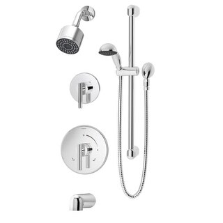 Symmons 3506-H321-V-CYL-B-1.5-TRM Dia Tub and Shower Trim Only Package with Sing