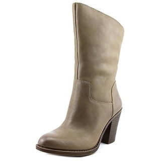 Lucky Brand Embrleigh Round Toe Leather Mid Calf Boot