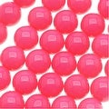 Czech Glass Round Party Beads 6mm - Neon Pink (1 Strand / 29 Beads) - Thumbnail 0