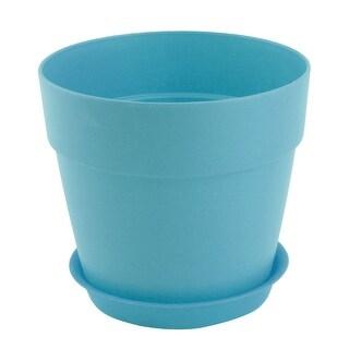 Office Plastic Desktop Decor Planting Plant Flower Holder Pot Flowerpot Cyan