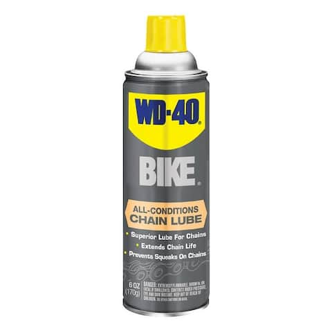 WD-40 390234 Waterproof Lubricant For Bicycle Chains, 6 Oz. Can