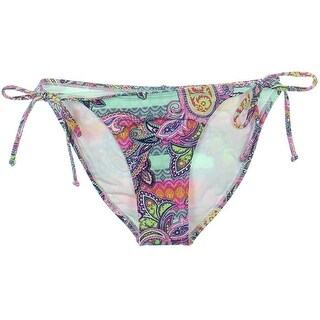 OndadeMar Womens Side Tie Paisley Print Swim Bottom Separates - S