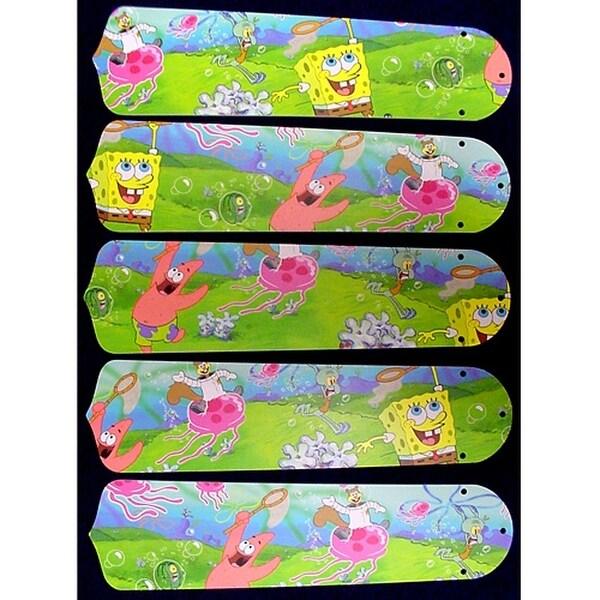 Sponge Bob Custom Designer 52in Ceiling Fan Blades Set - Multi