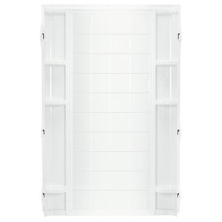 "Sterling 72112100 Ensemble 72-1/2"" x 42"" Vikrell Shower Back Wall with Tile Design"