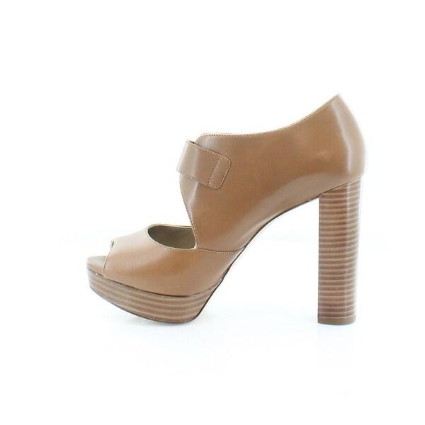 Michael Kors Womens Eleni Platform Leather Peep Toe Casual Platform Sandals - 5