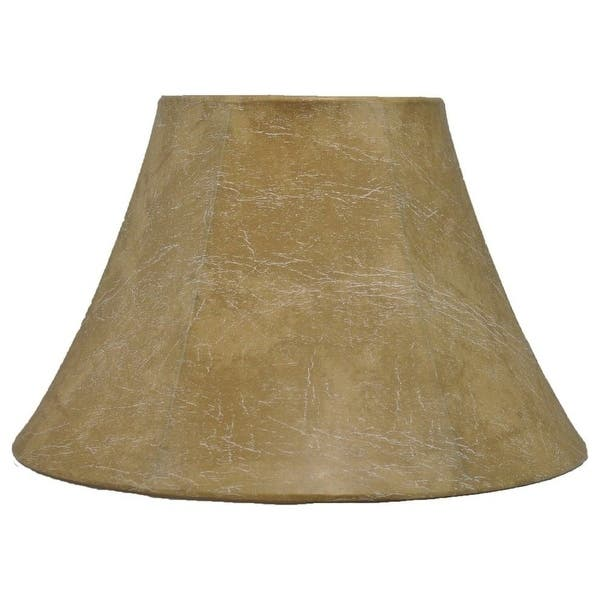 Faux Leather Bell Lampshade 9 To 16 Bottom Size On Sale Overstock 30785967