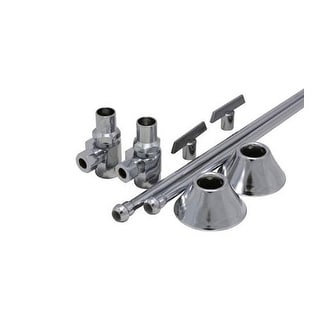 """ProFlo PFXHAT32CLKL12 1/2"""" x 3/8"""" Straight Supply Stop Kit with Risers, Flanges"""
