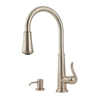 Pfister GT529-YP  Ashfield 2 Function Pullout Spray High Arc Kitchen Faucet with AccuDock Sprayhead, Flex-Line Supply Lines and