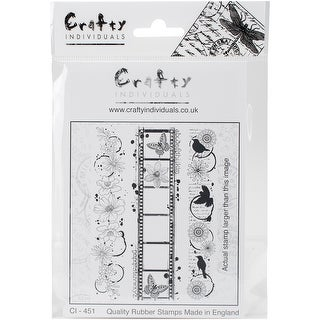 """Crafty Individuals Unmounted Rubber Stamp 4.75""""X7"""" Pkg-Inky"""