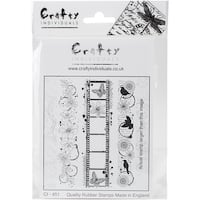 """Inky Borders - Crafty Individuals Unmounted Rubber Stamp 4.75""""X7"""" Pkg"""