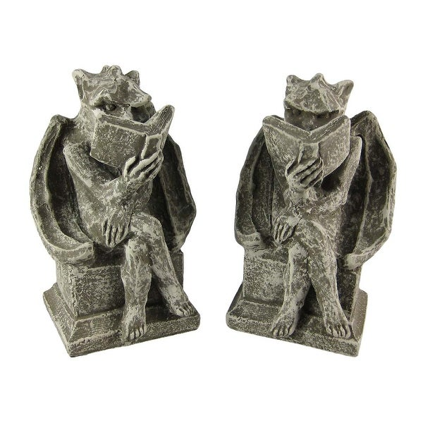 Cool Bookworm Gargoyle Book Ends Bookends Reading. Opens flyout.