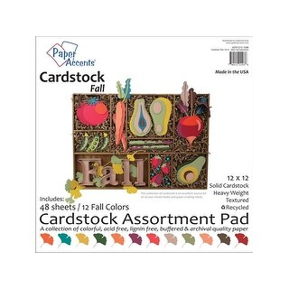 Cardstock Pad 12x12 48pc Fall Assortment