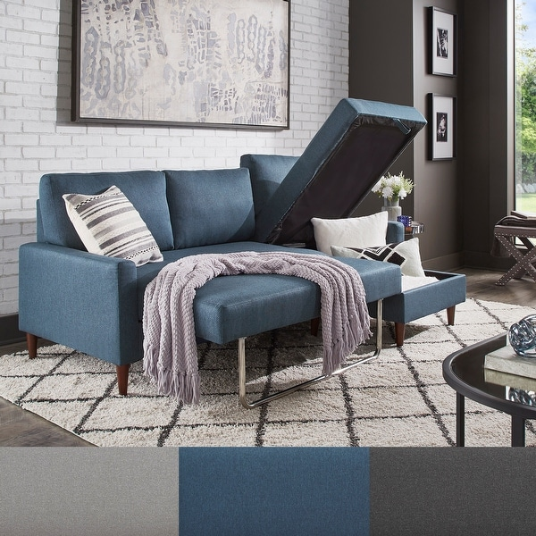 Parker Convertible Sofa with Right Facing Storage Chaise by iNSPIRE Q Modern. Opens flyout.
