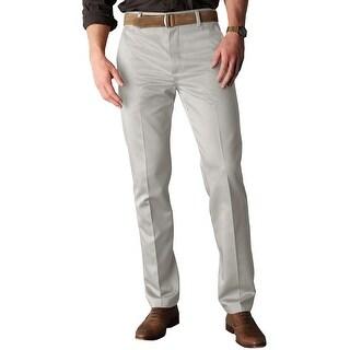 Dockers Essential Khaki D1 Slim Fit Flat Front Chinos Pants Sand 32 x 29