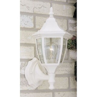 "Designers Fountain 2462-WH 1 Light 7"" Cast Aluminum Wall Lantern"
