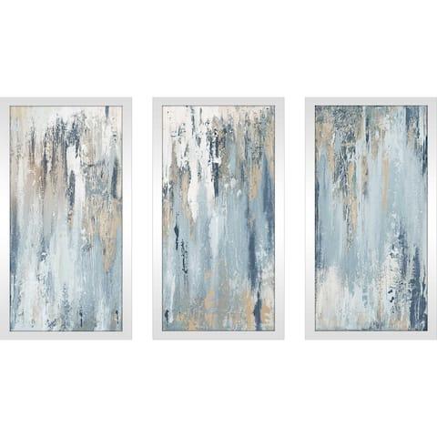 Blue Illusion' Print on Framed Acrylic Set of 3