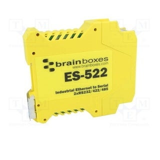 Brainboxes Es-522 - Switch, Ethernet - Serial, 2 Port
