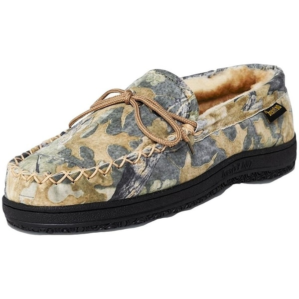 2e5450b7e3cd2 Shop Old Friend Slippers Mens Sheepskin Moccasin Camouflage Chestnut - Free  Shipping Today - Overstock - 15415852
