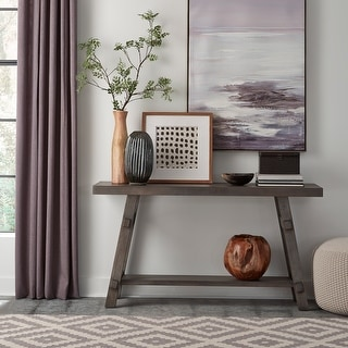 Link to Modern Farmhouse Dusty Charcoal Splay Leg Sofa Table - W56 x D15 x H30 Similar Items in Living Room Furniture