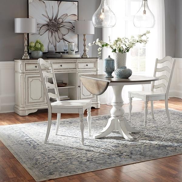 Magnolia Manor Antique White 3-piece Drop Leaf Table Set. Opens flyout.
