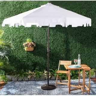Link to SAFAVIEH Outdoor Zimmerman 9 Ft Market Umbrella - White Similar Items in Patio Umbrellas & Shades