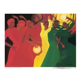 ''Spiritual Climax'' by Bernard Hoyes African American Art Print (19.75 x 25.25 in.)