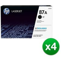 HP 87A Black Original LaserJet Toner Cartridge (CF287A)(4-Pack)