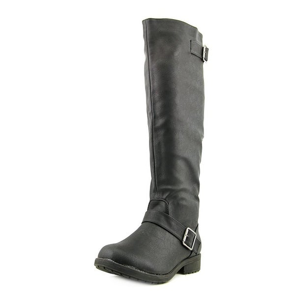 Vybe Moto Women  Round Toe Synthetic Black Knee High Boot