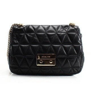 Michael Kors NEW Black Quilted Leather Sloan Chain Shoulder Bag Purse