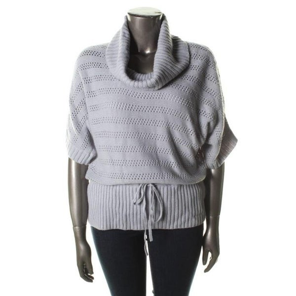 United States Sweaters Womens Pullover Sweater Metallic Elbow Sleeves