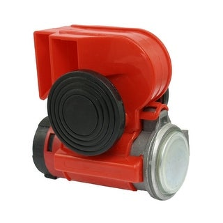 Unique Bargains Unique Bargains DC 12/24V Truck Car Red Plastic Shell Air Horn Trumpet Compressor