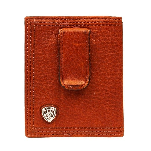 Ariat Western Wallet Mens Leather Bifold Clip Concho - One size