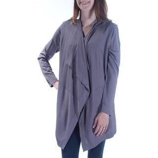 ANNE KLEIN $119 Womens New 1488 Gray Open Cardigan Long Sleeve XS B+B