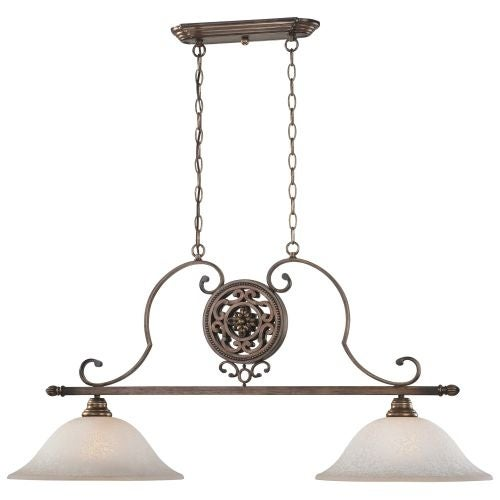 Minka Lavery 4312 2 Light 1 Tier Linear Chandelier from the Regents Row Collection