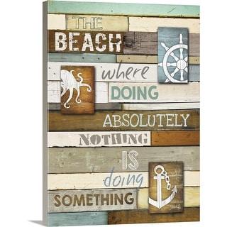 """The Beach"" Canvas Wall Art"