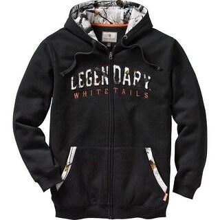 Legendary Whitetails Men's Snowstorm Full Zip Hoodie - Black