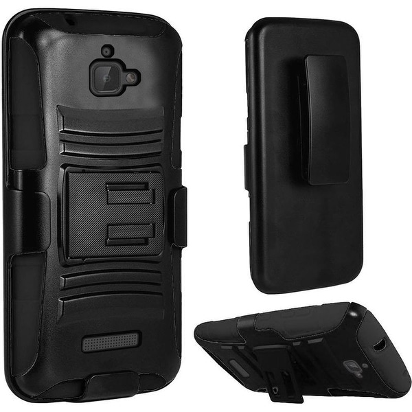 Insten Hard PC/ Silicone Dual Layer Hybrid Case Cover with Stand/ Holster For Coolpad Catalyst