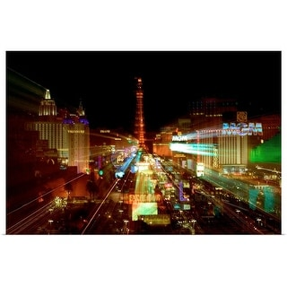 """Las Vegas at night"" Poster Print"