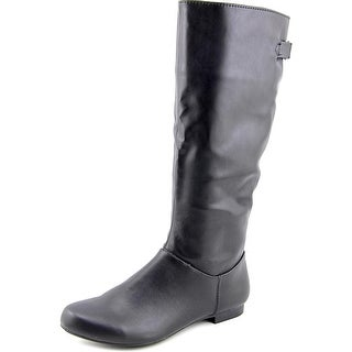 Style & Co mighty Women Round Toe Synthetic Black Knee High Boot