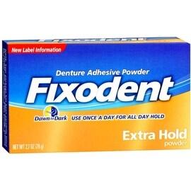 Fixodent Denture Adhesive Powder Extra Hold 2.70 oz